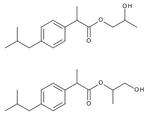Ibuprofen 1,2-Propylene Glycol Esters (Mixture of Regio- and Stereoisomers)