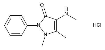 4-Methylamino-1,5-dimethyl-2-phenyl-1,2-dihydro-3H-pyrazol-3-one Hydrochloride (4-Methylaminophenazone Hydrochloride)