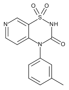 4-(3-Methylphenyl)-2H-pyrido[4,3-e]-1,2,4-thiadiazin-3(4H)-one 1,1-Dioxide