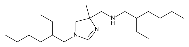 2-Ethyl-N-[[1-(2-ethylhexyl)-4-methyl-4,5-dihydro-1H-imidazol-4-yl]methyl]hexan-1-amine (Dehydrohexetidine)