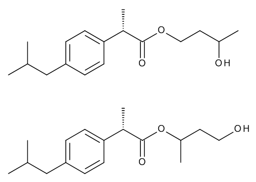 Dexibuprofen 1,3-Butylene Glycol Esters (Mixture of Regio- and Stereoisomers)