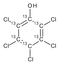 Pentachlorophenol 13C6 100 µg/mL in Cyclohexane