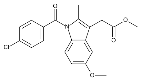 Methyl [1-(4-Chlorobenzoyl)-5-methoxy-2-methyl-1H-indol-3-yl]acetate (Indomethacin Methyl Ester)