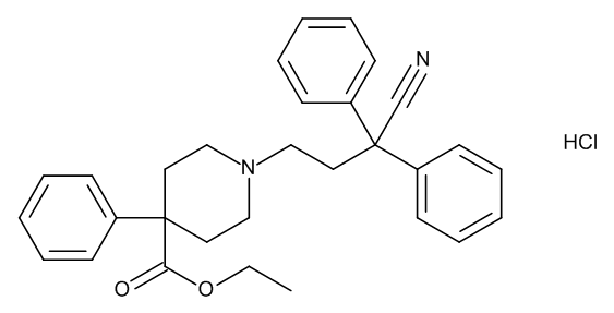 Diphenoxylate hydrochloride - * narc