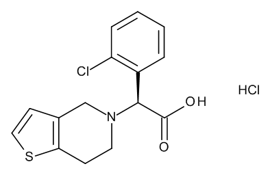 (2S)-(2-Chlorophenyl)[6,7-dihydrothieno[3,2-c]pyridin-5(4H)-yl]acetic Acid Hydrochloride (Clopidogrel Acid Hydrochloride)