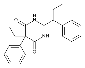 5-Ethyl-5-phenyl-2-(1-phenylpropyl)dihydropyrimidine-4,6(1H,5H)-dione (Mixture of Diastereomers)