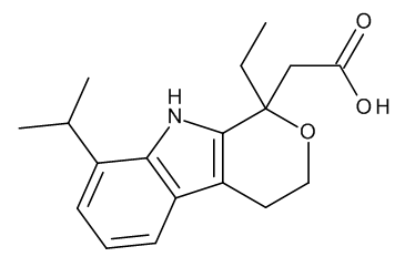 2-[(1RS)-1-Ethyl-8-(1-methylethyl)-1,3,4,9-tetrahydropyrano[3,4-b]indol-1-yl]acetic Acid (8-Isopropyl Etodolac)