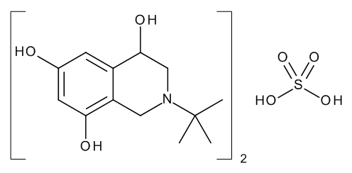 (4RS)-2-(1,1-Dimethylethyl)-1,2,3,4-tetrahydroisoquinoline-4,6,8-triol Hemisulphate