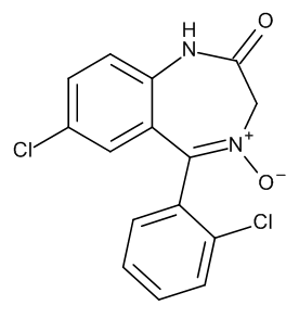7-Chloro-5-(2-chlorophenyl)-1,3-dihydro-2H-1,4-benzodiazepin-2-one 4-Oxide