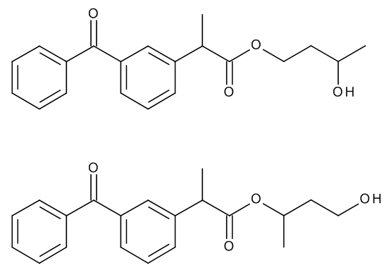 Ketoprofen 1,3-Butylene Glycol Esters (Mixture of Regio- and Stereoisomers)