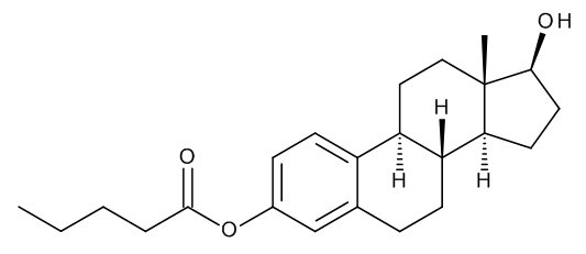 17beta-Hydroxyestra-1,3,5(10)-trien-3-yl Pentanoate (Estradiol 3-Valerate)