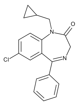 Prazepam 1.0 mg/ml in Methanol
