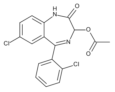 Lorazepam Acetate ((3RS)-7-Chloro-5-(2-chlorophenyl)-2-oxo-2,3-dihydro-1H-1,4-benzodiazepin-3-yl Acetate) 0.1 mg/ml in Acetonitrile