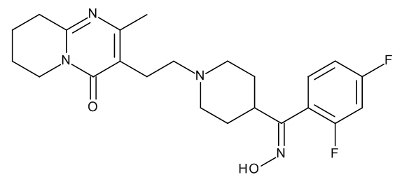 3-[2-[4-[(E)-(2,4-Difluorophenyl)(hydroxyimino)methyl]piperidin-1-yl]ethyl]-2-methyl-6,7,8,9-tetrahydro-4H-pyrido[1,2-a]pyrimidin-4-one