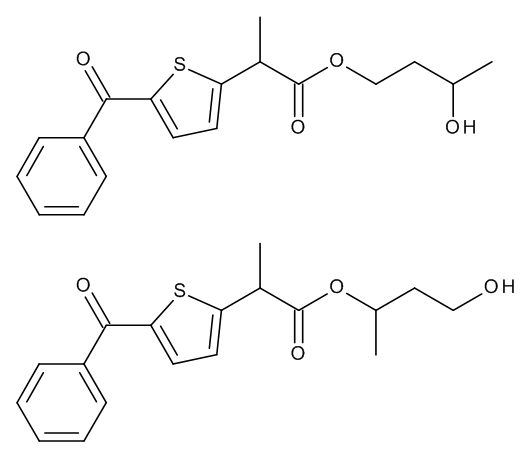 Tiaprofenic Acid 1,3-Butylene Glycol Esters (Mixture of Regio- and Stereoisomers)