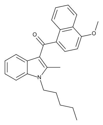 JWH-098 ((4-Methoxynaphthalen-1-yl)(2-methyl-1-pentylindol-3-yl)methanone) 1.0 mg/ml in Acetonitrile