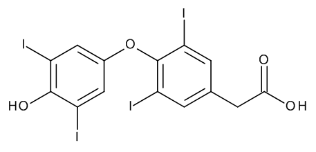 [4-(4-Hydroxy-3,5-diiodophenoxy)-3,5-diiodophenyl]acetic Acid (Tetraiodothyroacetic Acid)