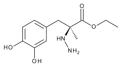 Ethyl (2S)-3-(3,4-Dihydroxyphenyl)-2-hydrazino-2-methylpropanoate (Carbidopa Ethyl Ester)