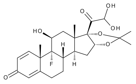 9-Fluoro-11beta,21,21-trihydroxy-16alpha,17-(1-methylethylidenedioxy)pregna-1,4-diene-3,20-dione (Triamcinolone Acetonide 21-Aldehyde Hydrate)