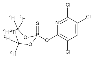 Chlorpyrifos-methyl D6 (dimethyl D6) 100 µg/mL in Cyclohexane
