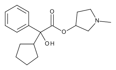 1-Methylpyrrolidin-3-yl 2-Cyclopentyl-2-hydroxy-2-phenylacetate