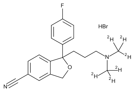 Citalopram-D6 Hydrobromide 0.1 mg/ml in Methanol (as free base)