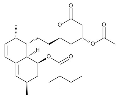(1S,3R,7S,8S,8aR)-8-[2-[(2R,4R)-4-(Acetyloxy)-6-oxotetrahydro-2H-pyran-2-yl]ethyl]-3,7-dimethyl-1,2,3,7,8,8a-hexahydronaphthalen-1-yl 2,2-Dimethylbutanoate (Simvastatin Acetate Ester)