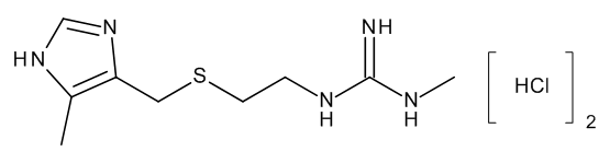 1-methyl-3-[2-(5-methylimidazol-4-yl-methylthio)ethyl]guanidine dihydrochloride
