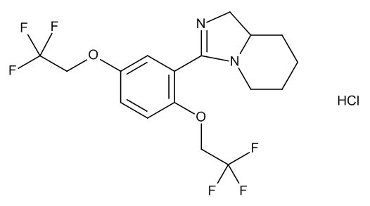 (8aRS)-3-[2,5-Bis(2,2,2-trifluoroethoxy)phenyl]-1,5,6,7,8,8a-hexahydroimidazo[1,5-a]pyridine Hydrochloride