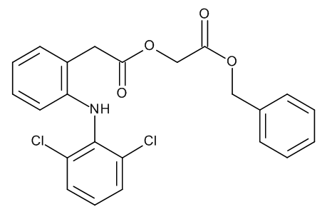 Benzyl [[[2-[(2,6-Dichlorophenyl)amino]phenyl]acetyl]oxy]acetate (Benzyl Ester of Aceclofenac)