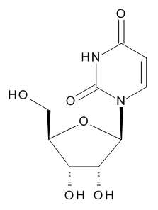 1-beta-D-Ribofuranosylpyrimidine-2,4(1H,3H)-dione (Uridine)