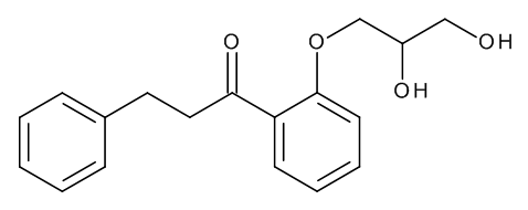 1-[2-[(2RS)-2,3-Dihydroxypropoxy]phenyl]-3-phenylpropan-1-one