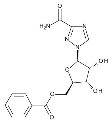 1-(5-O-Benzoyl-beta-D-ribofuranosyl)-1H-1,2,4-triazole-3-carboxamide (5'-O-Benzoylribavirin)