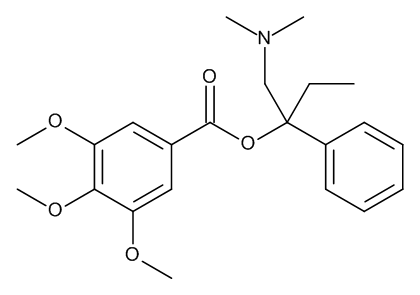 (1RS)-1-[(Dimethylamino)methyl]-1-phenylpropyl 3,4,5-Trimethoxybenzoate
