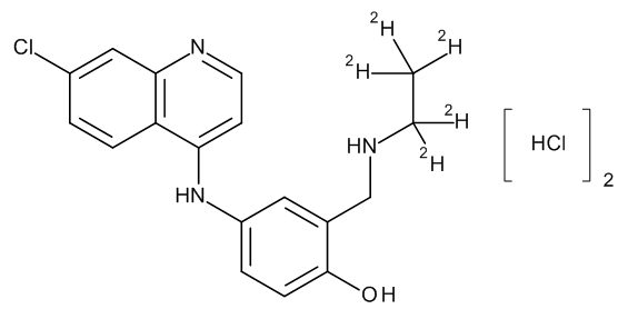 Desethylamodiaquine-D5 Dihydrochloride 0.1 mg/ml in Methanol (as free base)