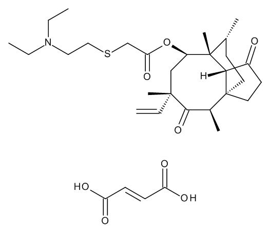 (3aS,4R,6S,8R,9R,9aR,10R)-6-Ethenyl-4,6,9,10-tetramethyl-1,5-dioxodecahydro-3a,9-propano-3aH-cyclopentacycloocten-8-yl [[2-(Diethylamino)ethyl]sulphanyl]acetate Hydrogen Fumarate