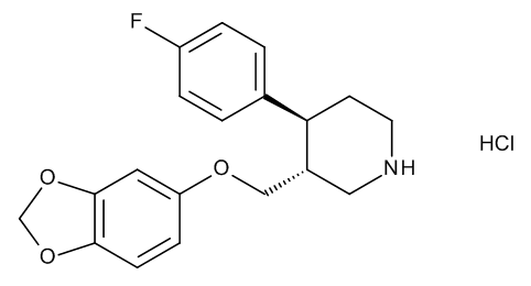 (3R,4S)-3-[(1,3-Benzodioxol-5-yloxy)methyl]-4-(4-fluorophenyl)piperidine Hydrochloride ((+)-trans-Paroxetine Hydrochloride)