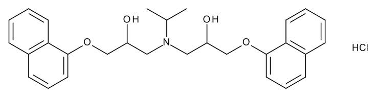 1,1'-[(1-Methylethyl)imino]bis[3-(naphthalen-1-yloxy)propan-2-ol] Hydrochloride (Tertiary Amine Derivative Hydrochloride)