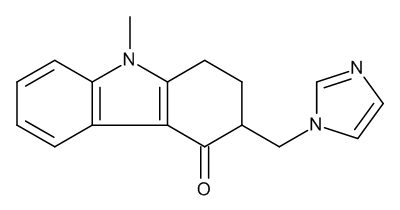 (3RS)-3-[(1H-Imidazol-1-yl)methyl]-9-methyl-1,2,3,9-tetrahydro-4H-carbazol-4-one (C-Demethylondansetron)