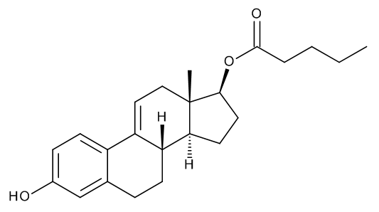 3-Hydroxyestra-1,3,5(10),9(11)-tetraen-17beta-yl Pentanoate (9,11-Didehydroestradiol Valerate)