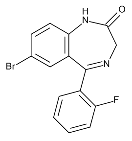 Flubromazepam (7-Bromo-5-(2-fluorophenyl)-1,3-dihydro-2H-1,4-benzodiazepin-2-one)