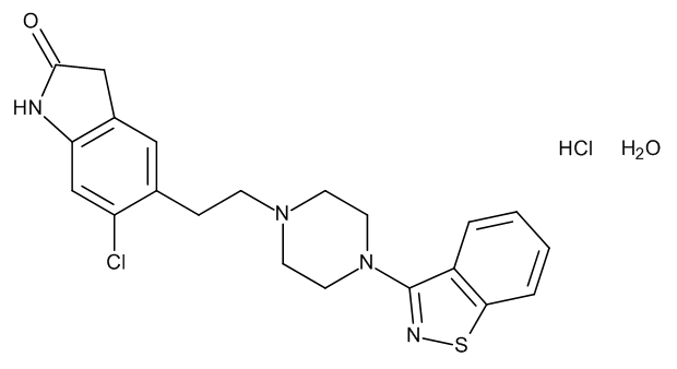 Ziprasidone Hydrochloride Monohydrate 1.0 mg/ml in Methanol (as anhydrous free base)