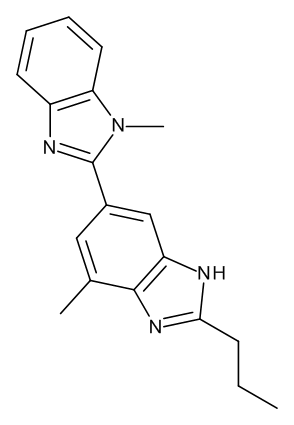 4-Methyl-6-(1-methyl-1H-benzimidazol-2-yl)-2-propyl-1H-benzimidazole