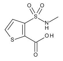 3-[(Methylamino)sulphonyl]thiophene-2-carboxylic Acid