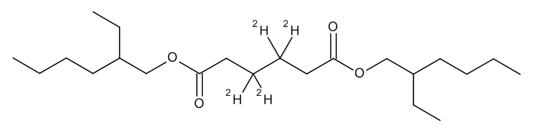 Adipic acid, bis-2-ethylhexyl ester D4