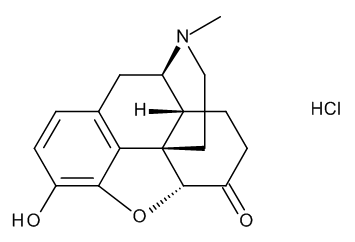Hydromorphone hydrochloride - * narc