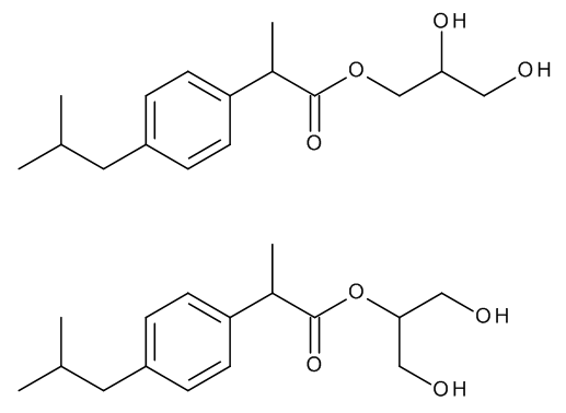 Ibuprofen 1,2,3-Propanetriol Esters (Mixture of Regio- and Stereoisomers)