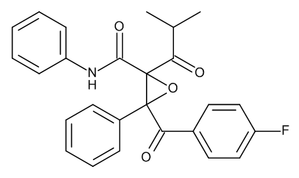 3-[(4-Fluorophenyl)carbonyl]-2-(2-methylpropanoyl)-N,3-diphenyloxirane-2-carboxamide