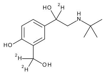 Salbutamol D3 (3-hydroxymethyl-D2,alpha D1) 100 µg/mL in Acetonitrile