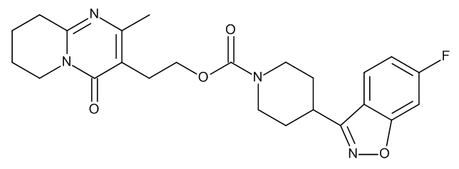 2-[2-Methyl-4-oxo-6,7,8,9-tetrahydro-4H-pyrido[1,2-a]pyrimidin-3-yl]ethyl 4-(6-Fluoro-1,2-benzisoxazol-3-yl)piperidin-1-carboxylate